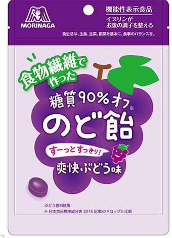 糖質90%オフのど飴<爽快ぶどう味>