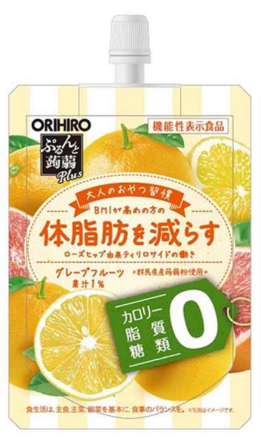 ぷるんと蒟蒻Plus(プラス) グレープフルーツ味
