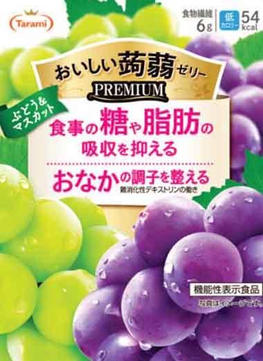 Tarami(タラミ) おいしい蒟蒻ゼリー PREMIUM(プレミアム) ぶどう&マスカット